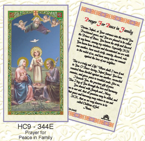 Prayer for Peace in the Family - Discount Catholic Store