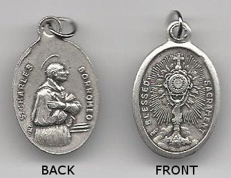 Eucharist with St. Charles Borromeo  Medal - Discount Catholic Store