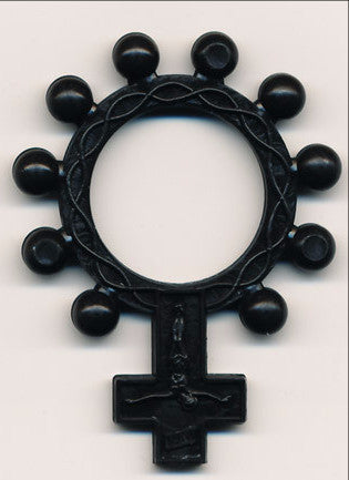 Black Plastic Rosary Ring