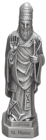 St. Blaise Pewter Statue - Discount Catholic Store