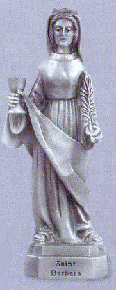 St. Barbara Pewter Statue - Discount Catholic Store