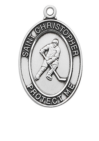 "Hockey <br> Sterling Silver 1.2"" - Discount Catholic Store"