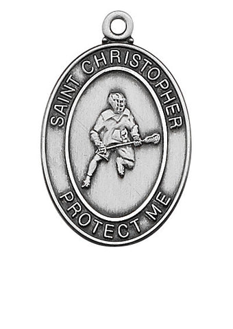 "Lacrosse <br> Sterling Silver 1.2"" - Discount Catholic Store"