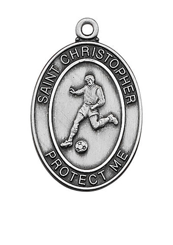 "Soccer <br> Sterling Silver 1.2"" - Discount Catholic Store"
