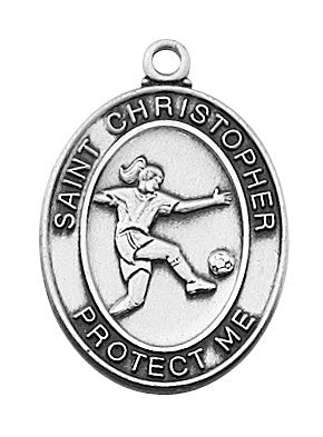 "Soccer <br> Sterling Silver 1"" - Discount Catholic Store"