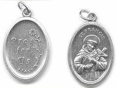 St. Francis of Assisi  Medal - Praying  Medal - Discount Catholic Store