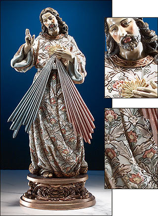 "9"" Divine Mercy Statue - Discount Catholic Store"