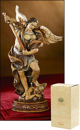 "6.5"" St. Michael Statue - Discount Catholic Store"
