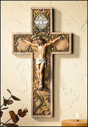 "10"" Holy Spirit Crucifix - Discount Catholic Store"