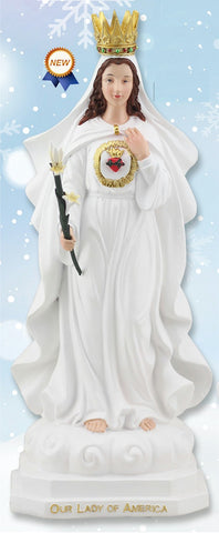 Our Lady of America Statue 12""