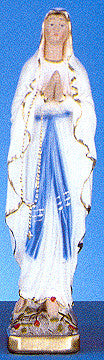 "Our Lady of Lourdes 12"" Italian Plaster Statue"