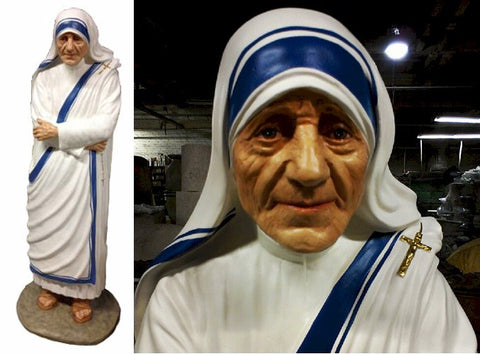 "61"" St. Mother Teresa Fiberglass Statue - Discount Catholic Store"