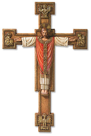 "13"" Christ the King Crucifix - Discount Catholic Store"