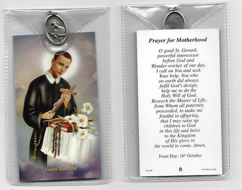 St. Gerard Prayer Card and Medal