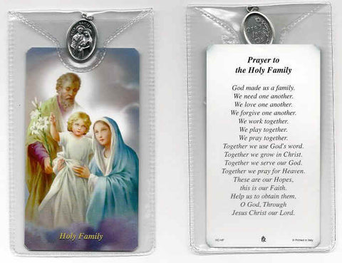 Holy Family Prayer Card and Medal