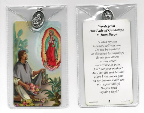St. Juan Diego Prayer Card and Medal
