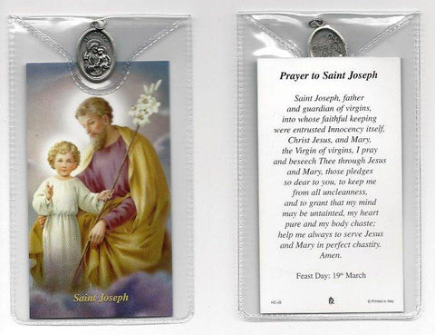 St. Joseph Prayer Card and Medal