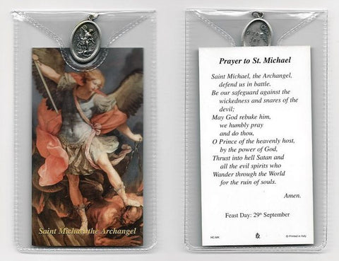 St. Michael Prayer Card and Medal