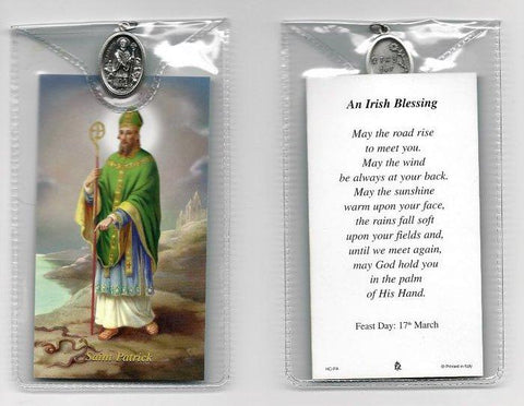 St. Patrick Prayer Card and Medal
