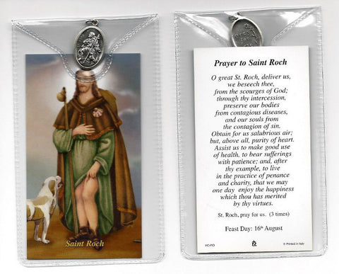 St. Roch Prayer Card and Medal
