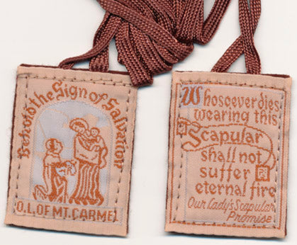 Brown Wool Scapular
