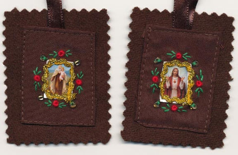 Brown Wool Scapular - Discount Catholic Store