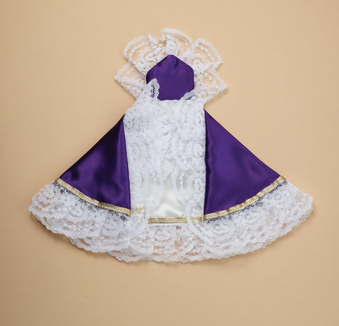 Infant of Prague Dress Purple