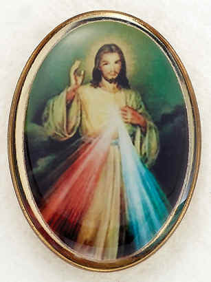 Lapel Pin - Divine Mercy 1""