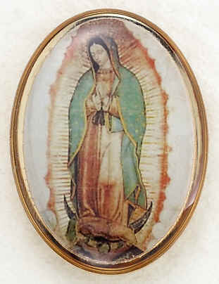 Lapel Pin - Our Lady of Guadalupe 1""