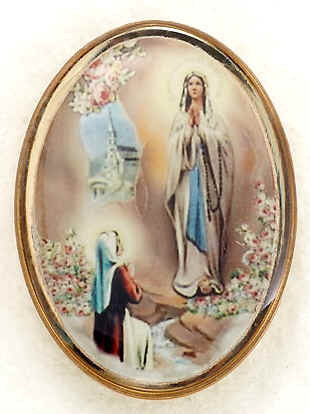 Lapel Pin - Our Lady of Lourdes 1""