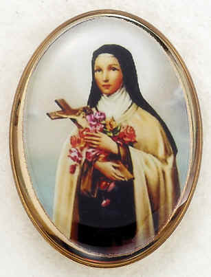 Lapel Pin - St. Therese 1""