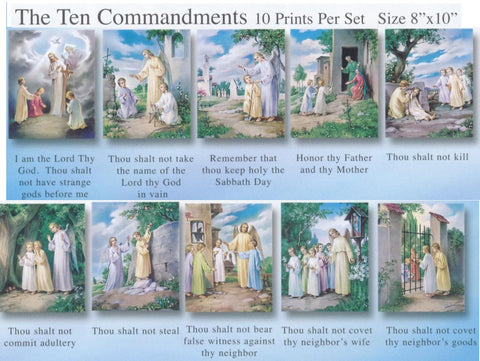 The 10 Commandments Poster Set - Discount Catholic Store