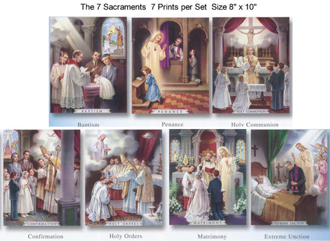 The 7 Sacraments Poster Set - Discount Catholic Store