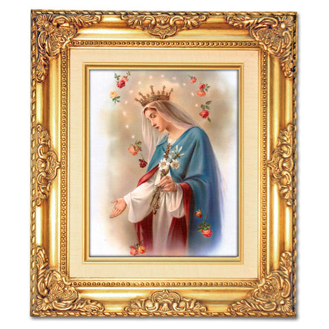 Mary with Roses  Framed Art