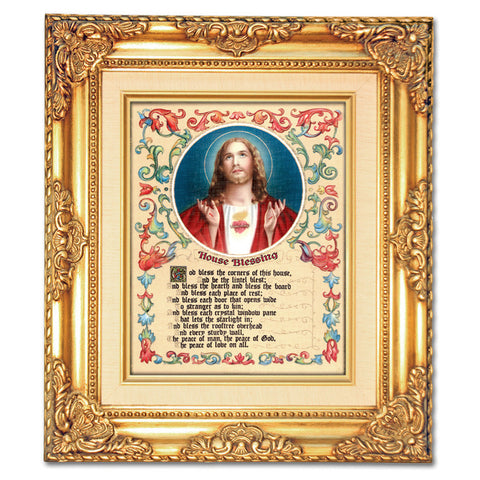 House Blessing Sacred Heart of Jesus  Framed Art