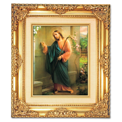 Jesus Knocking Framed Art