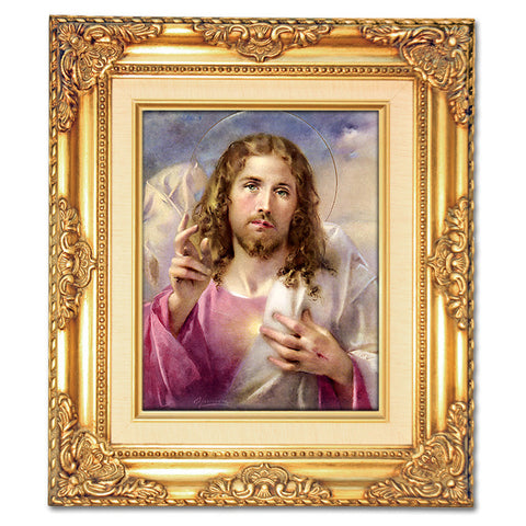 Head of Christ (Blessing) Framed Art