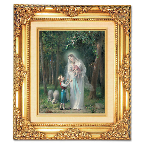 Mary with Little Girl Framed Art