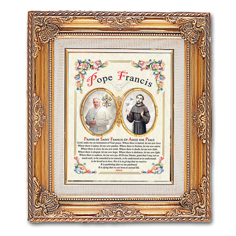Pope Francis Framed Art with Prayer