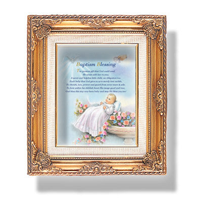 Baptism Blessing Framed Art