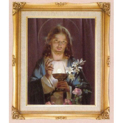 Jesus Offering Holy Communion  Framed Art