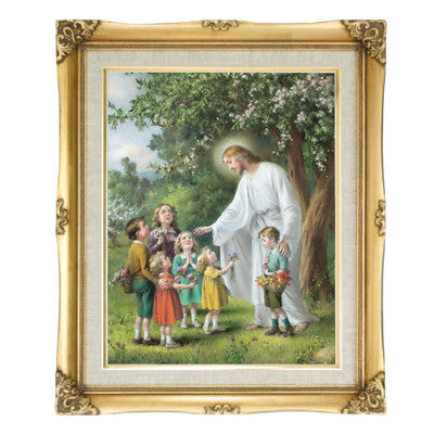 Jesus with the Children  Framed Art