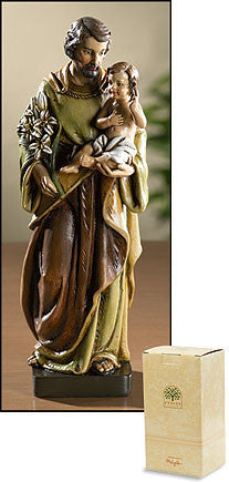 "8"" St. Joseph & Child Statue - Discount Catholic Store"