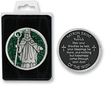 St. Patrick Enameled Pocket Coin - Pack of 12