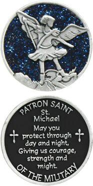St. Michael Enameled Pocket Coin - Pack of 12