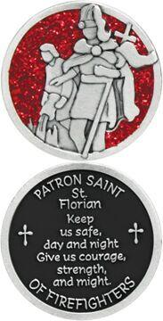 St. Florian Enameled Pocket Coin - Pack of 12