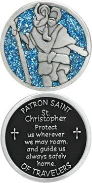 St. Christopher Enameled Pocket Coin - Pack of 12