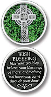 Irish Blessing Enameled Pocket Coin - Pack of 12
