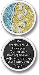 Footprints Enameled Pocket Coin - Pack of 12