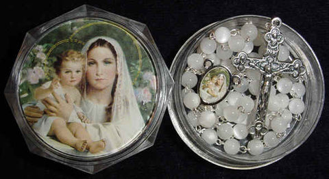 Madonna and Child with Lilies - Discount Catholic Store